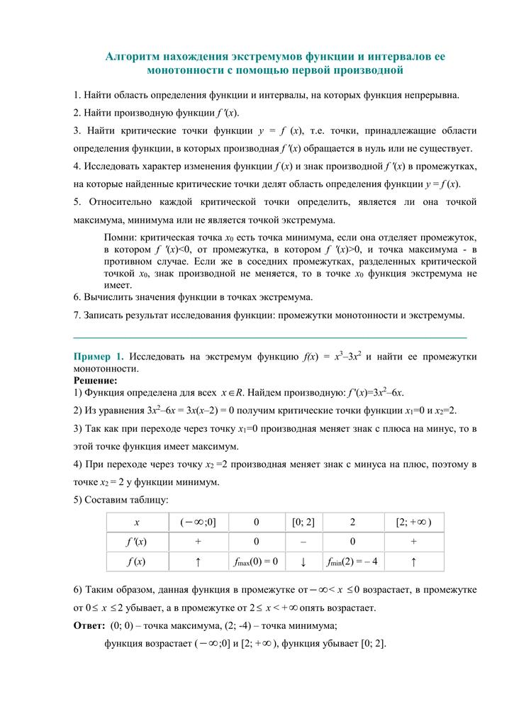 Решение задач на нахождение экстремумов функции решение задач на силу света