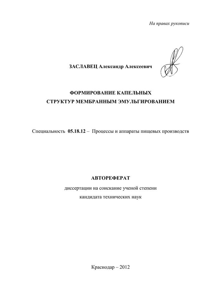 Диссертация на соискание ученой степени кандидата технических наук 8793