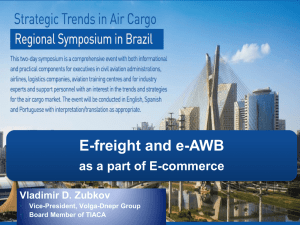 eFreight and eAWB