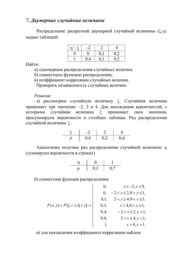 Решение задач по 2 независимым величинами решение эконометрика задач онлайн