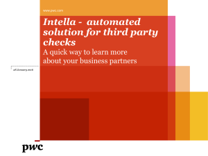 Intella - automated solution for third party checks