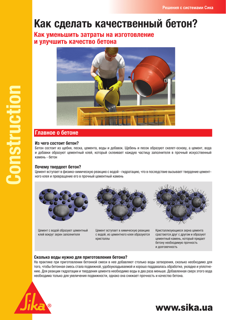 Как улучшить бетонный смесь устройство для бетонных смесей