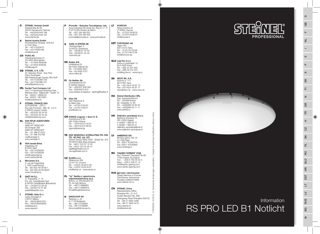 RS PRO LED B1 Notlicht