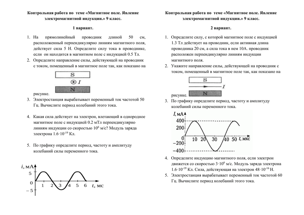 Контрольная работа электромагнитное поле 4850