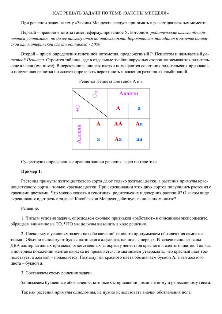 Задачи на законы менделя 11 класс с решением задачи по кинематики с решением егэ