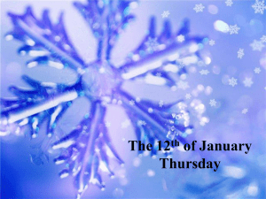 The 12 of January Thursday th