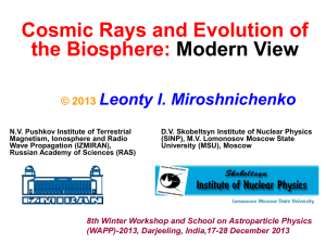 Cosmic Rays and Evolution of the Biosphere