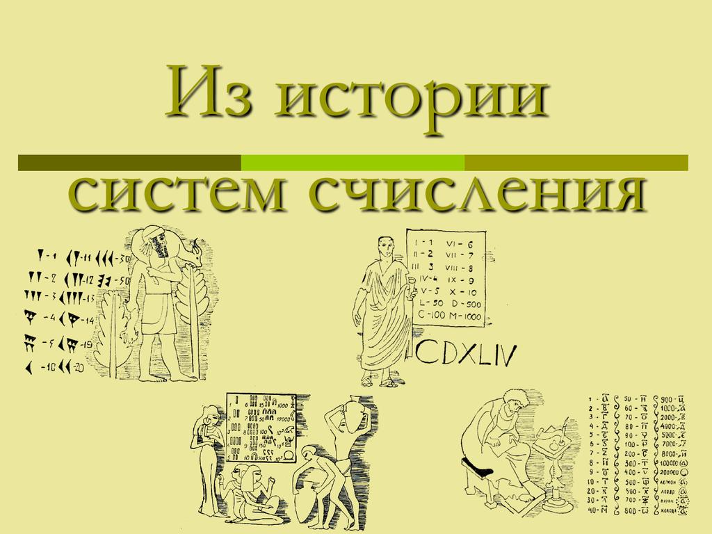 Картинки системы счисления в прошлом и настоящем
