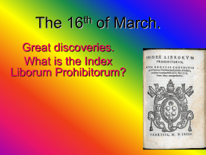 The 16 of March. Great discoveries. What is the Index