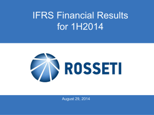 IFRS Financial Results for 1H2014 August 29, 2014