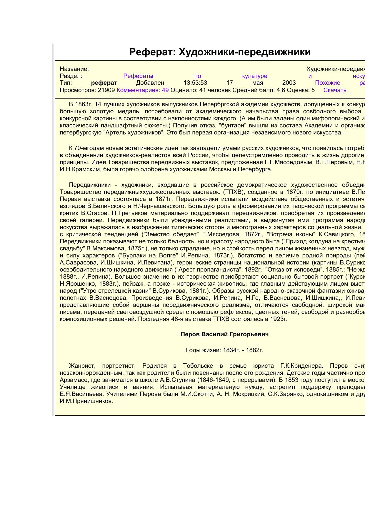 Эссе о художнике левитане 5830