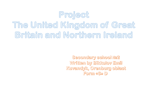 Project the UK of GB and NI