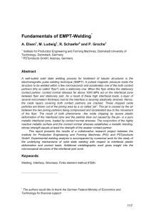 Fundamental of EMPT welding