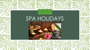 SPA holidays