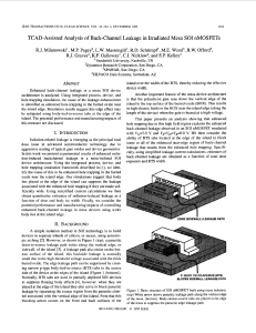1998 TCAD-assisted analysis of back-channel leakage in irradiated mesa SOI nMOSFETs
