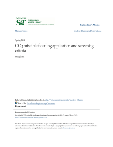 CO sub 2  sub  miscible flooding application and screening criter