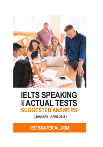 IELTS Speaking Actual Tests