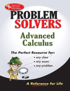 Advanced Calculus Problem Solvers