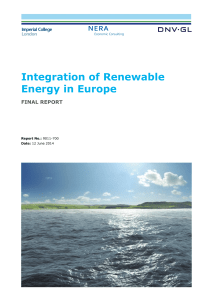 Renewables integration in Europe Final Report