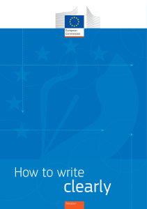 how to write clearly en