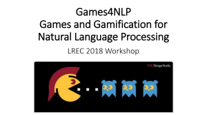 Gamification in NLP