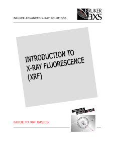 [Bruker 2006] Introduction to X-ray Fluorescence (XRF)