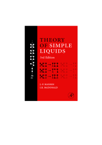[Jean-Pierre Hansen, I.R. McDonald] Theory of Simple Liquids