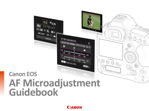 Canon AF Microadjustment Guidebook