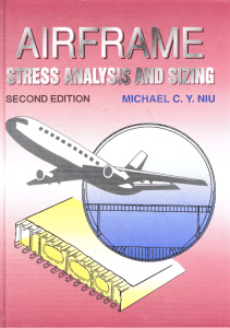 AIRFRAME STRESS ANALYSIS AND SIZING BY MICHAEL C.Y. NIU