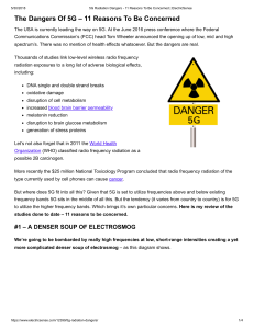 5G Radiation Dangers - 11 Reasons To Be Concerned   ElectricSense
