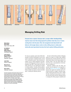Managing Drilling Risk