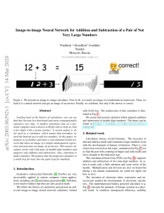 Image-to-image Neural Network for Addition and Subtraction