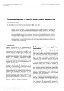The Lean Management of Spare Parts in Automotive M