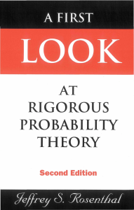 A First Look at Rigorous Probability Theory, 2ed (Jeffrey S. Rosenthal) (1)