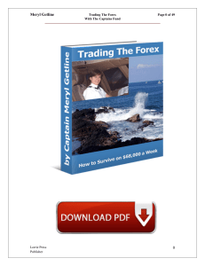 Meryl Getline - Trading The Forex With The Captains Fund PDF Free Download eBook