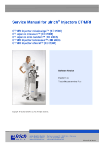Service Manual for ulrich Injectors