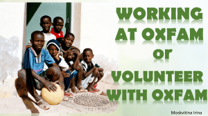 Working at OxfamM
