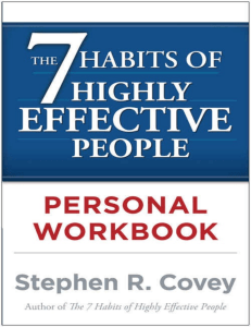 The 7 habits of highly effective people personal workbook PDFDrive