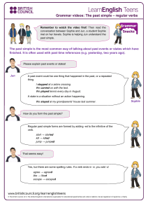 gs past simple - regular verbs 1