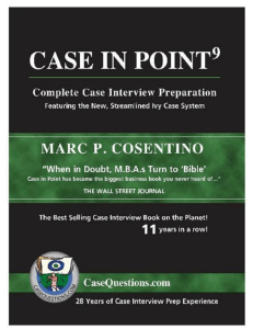 Case in Point 9  Complete Case Interview Preparation ( PDFDrive )